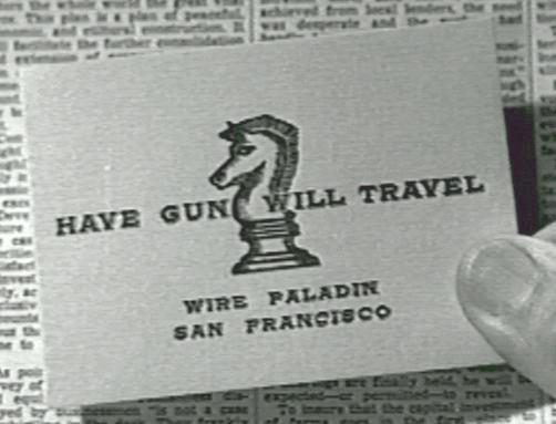 1957 Have Gun Will Travel Paladin Cartridge Gun Belt and Hollywood Fast Draw Holster(s)