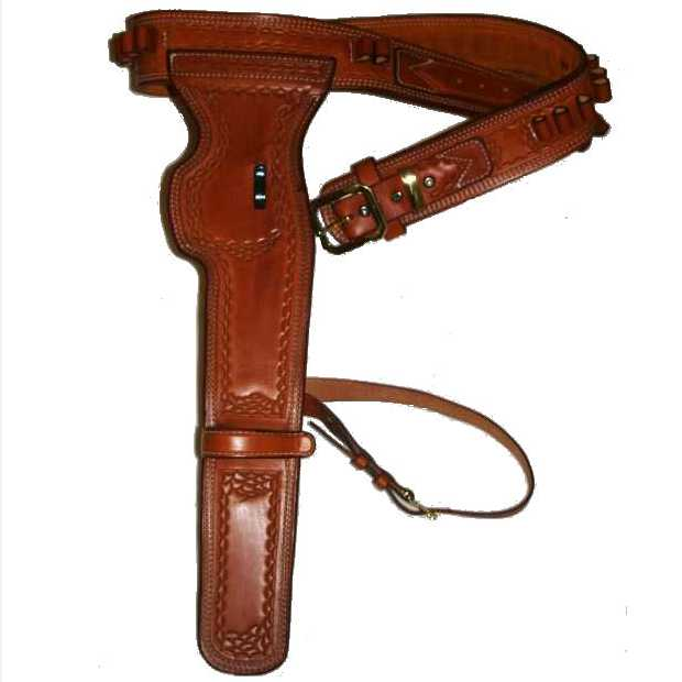 1958 Wanted Dead or Alive Josh Randall Mares Leg Gun Belt and Side Holster