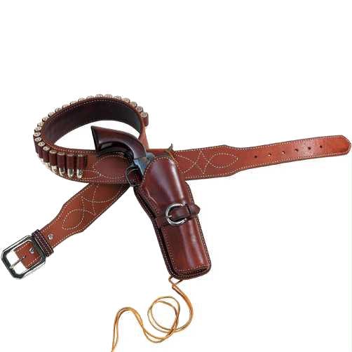 Spaghetti Western Gun Belt and Fast Draw Holster
