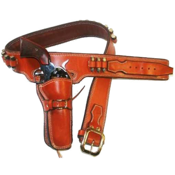 1967 John Russell Hombre Style Cartridge Gun Belt and Fast Draw Holster(s)