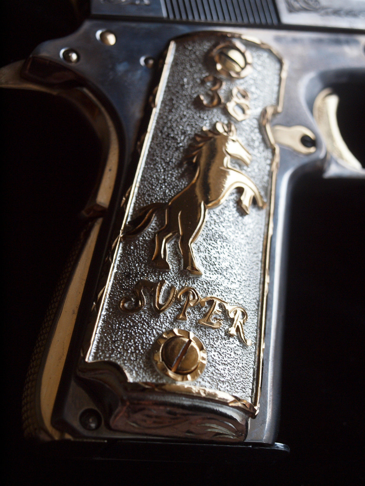 1911 Grips 38 Super with Rearing Colt Pony