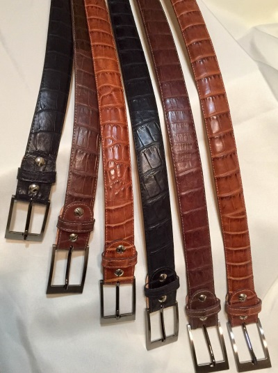 American Crocodile Dress Gun Belts