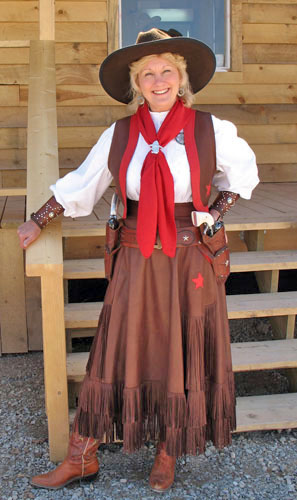 Handmade Deer Hide Skirt and Vest Ensemble BLUE EYES