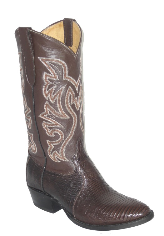 Brown Lizard Western Fancy Stitch Cowboy Boots