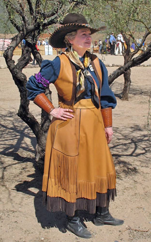 Handmade Deer Hide Skirt and Vest Set CAT BALLOU