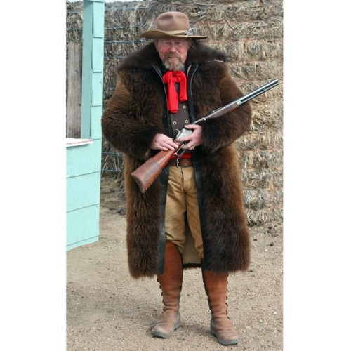 American Bison Buffalo Hair On Long Coat