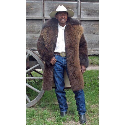 American Bison Buffalo Hair On Long Coat Mgblc
