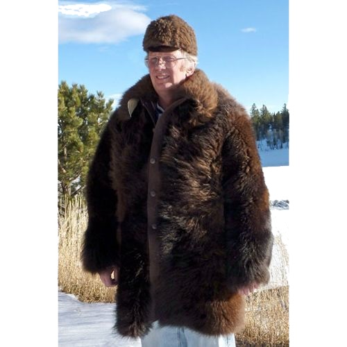 American Bison Buffalo Hair On Medium Length Coat