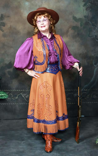 Handmade Deer Hide Skirt and Vest Ensemble COPPER QUEEN