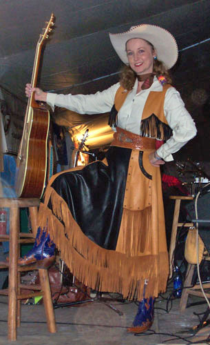 Handmade Deer Hide Skirt and Vest Ensemble DEVON DAWSON