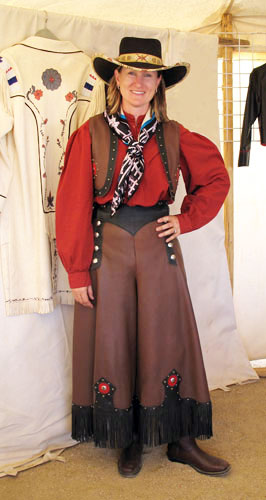 Handmade Deer Hide Split Skirt and Vest Ensemble