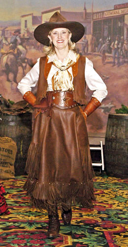 Handmade Deer Hide Skirt and Vest Outfit LADY STETSON