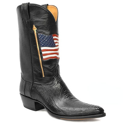 American Flag Handmade Leather Cowboy Boots
