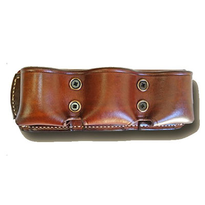 Ammunition Leather Open Top Triple Pouch Speed Loader