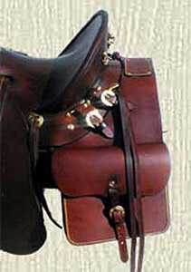 Leather Australian Cowboy Drover Saddle Bags