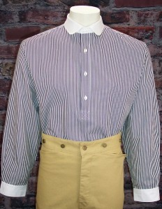 Bankers Old West Stripe Cotton Shirt