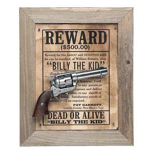 Billy The Kid Deluxe Barnwood Framed Set