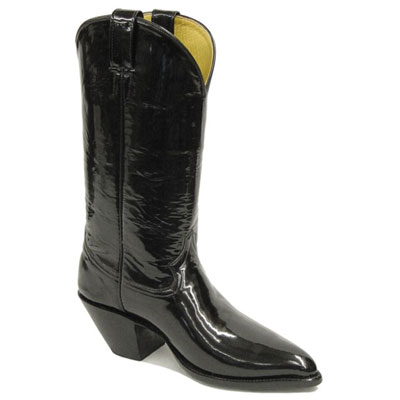 Black Patent Leather Cowboy Boot
