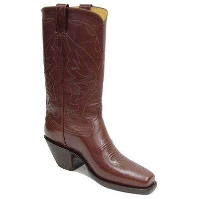 Britney Stitch Smooth Leather Handmade Cowboy Boots