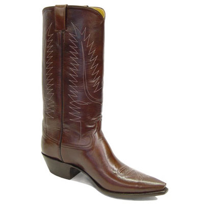 Brush Off Smooth Leather Cowboy Boot