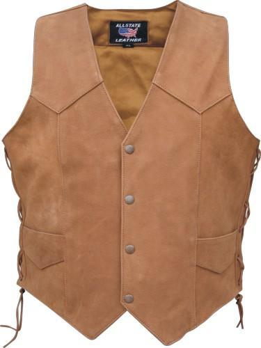Buffalo Cracker Western Leather Vest