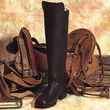 Cavalry Two Piece Western Leather Boots