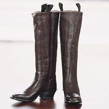Classic Cathedral Stitching Western Leather Boots