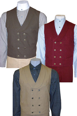 Classic Double Breasted Old West Vest