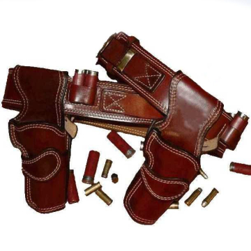 Competition Ready Cartridge Gun Belt with Shotgun Shell Loops and Fast Draw Holster(s)
