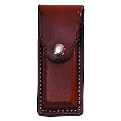 Covered Leather Clip Belt Pouch Single Magazine