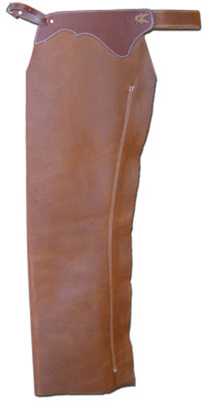 Cowboy Basic Leather Shotgun Chaps