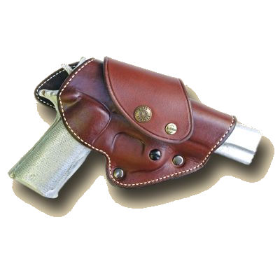 Cross Draw Driving / Riding Leather Gun Holster