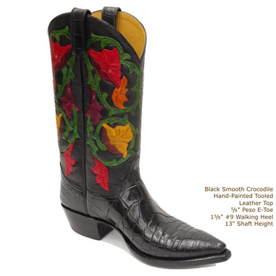 Delilah Tooled Leather Cowboy Boots