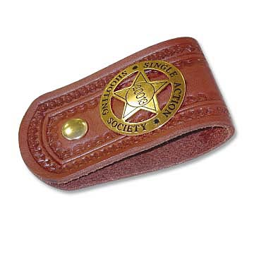 Deluxe Leather Badge Holder