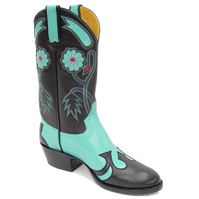 Desert Rose Leather Cowboy Boots