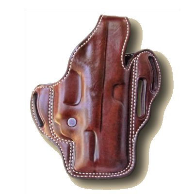 Dual Duty Triple Slotted Pancake Holster with Thumbreak
