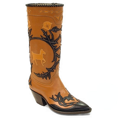 Filigree Handmade Leather Cowboy Boot