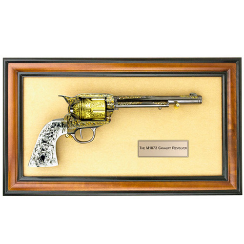 FRAMED M1873 COMMEMORATIVE CAVALRY REVOLVER