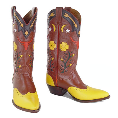 Gene Autry II Handmade Leather Cowboy Boots
