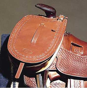 Western Leather Pommel Bag