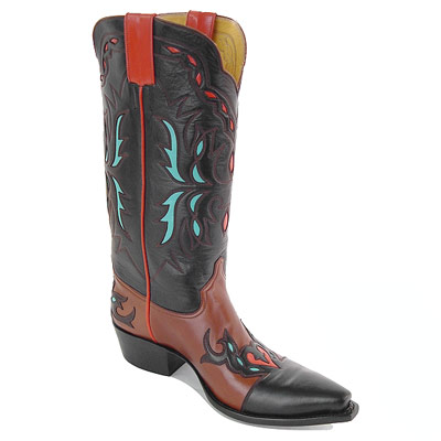 Gilded Leaf Handmade Leather Cowboy Boots