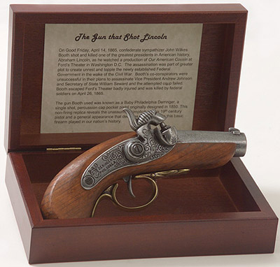 Gun That Shot Lincoln Derringer Boxed Set