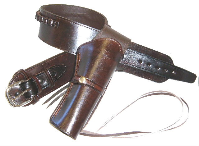 High Rider Cartridge Gun Belt and Single Side or Cross Draw Holster