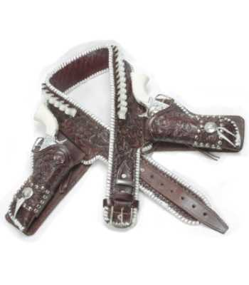 Hopalong Cassidy Latigo Laced Double Drop Loop Gun Belt and Side Holsters