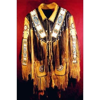 Handmade Elk and Deer Hide Wilderness Hand Braided Jacket