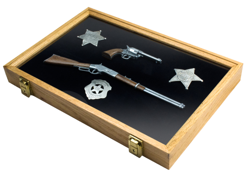 How The West Was Won Framed Lever Action Rifle SAA Revolver & Badge Set