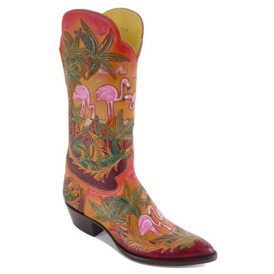 Islander Hand Tooled Leather Cowboy Boots