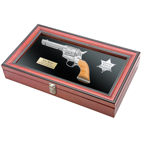 John Wayne Rooster Cogburn M1873 SAA Revolver and U.S. Marshall Badge Boxed Set
