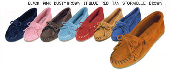 Kilty Suede Leather Hardsole Moccasins