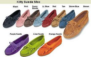 Kilty Suede Leather Moccasins